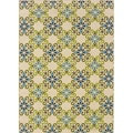 Ivory/Blue Floral Outdoor Area Rug (3'10 x 5'6)
