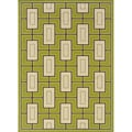 Green/Ivory Outdoor Area Rug (3'10 x 5'6)