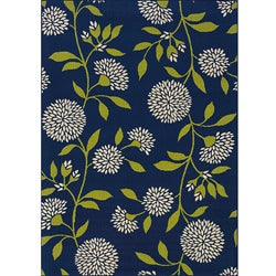 Blue/ Green Floral Outdoor Area Rug (7'10 x 10'10)