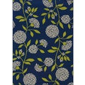 Blue/Green Floral Outdoor Area Rug (7'10 x 10'0)