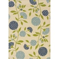 Ivory/Green Outdoor Area Rug (3'10 x 5'6)