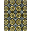 Blue/Green Outdoor Area Rug (3'10 x 5'6)