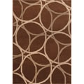 Miramar Brown/Beige Contemporary Area Rug (7'10 x 10')