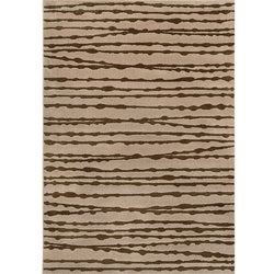 Miramar Grey and Brown Area Rug (5'3 x 7'6)