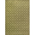 Miramar Green and Brown Area Rug (3'10 x 5'5)