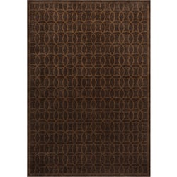Miramar Brown Geometric Area Rug (7'10 x 10')