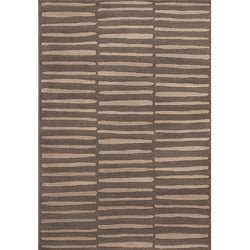 Miramar Grey Geometric Area Rug (5'3 x 7'6)
