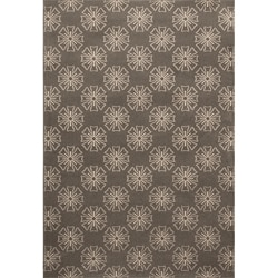 "Miramar Contemporary Grey Floral Area Rug (5'3"" x 7'6"")"