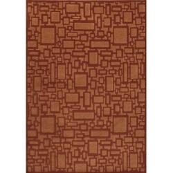 Miramar Rust Geometric Area Rug (7'10 x 10')