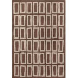 Miramar Brown/ Grey Geometric Area Rug (7'10 x 10')