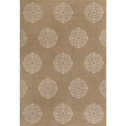 Miramar Grey Floral Area Rug (5'3 x 7'6)