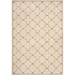 Miramar Ivory/ Grey Contemporary Area Rug (5'3 x 7'6)