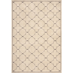Miramar Ivory/ Grey Contemporary Area Rug (6'7 x 9'6)