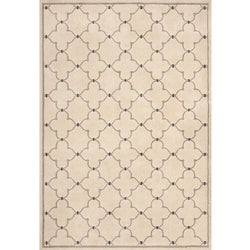 Miramar Ivory/ Grey Contemporary Area Rug (7'10 x 10')