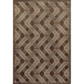 Miramar Brown/ Grey Contemporary Area Rug (5'3 x 7'6)