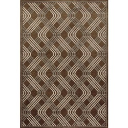 Miramar Brown/ Grey Contemporary Area Rug (6'7 x 9'6)