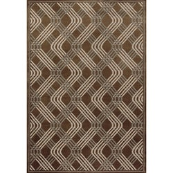 Miramar Brown/ Grey Contemporary Area Rug (7'10 x 10')