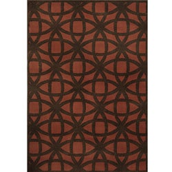 Miramar Rust/Brown Geometric Area Rug (5'3 x 7'6)