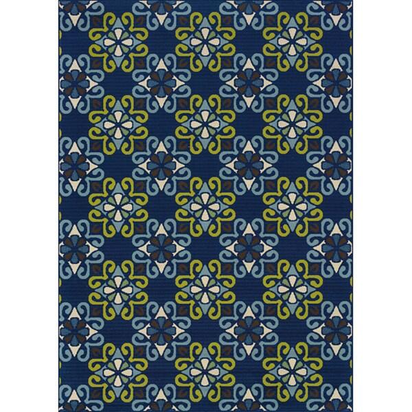 Blue Outdoor Area Rug (3'7 x 5'6)