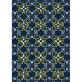 Blue Outdoor Area Rug (3'10 x 5'6)