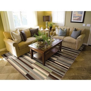 Miramar Grey/ Beige Transitional Area Rug (7'10 x 10')