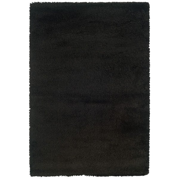 Manhattan Black Area Rug (7'10 x 11'2)
