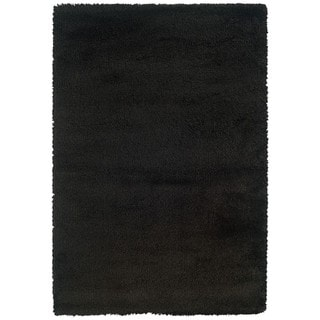 Manhattan Black Area Rug (6'7 x 9'6)