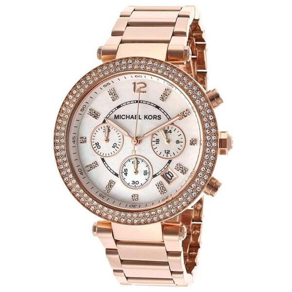Michael Kors Women's MK5491 Rose Goldtone Chronograph Watch