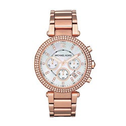 Michael Kors Women's Rose Goldtone Chronograph Watch