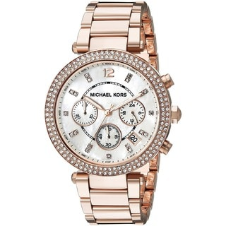 Michael Kors Women's MK5491 Rose Gold-Tone Chronograph Watch