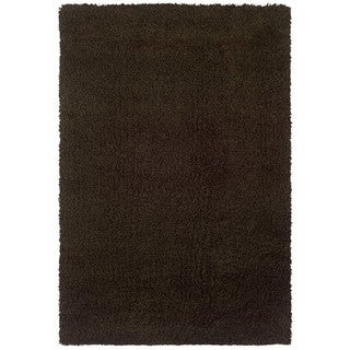Manhattan Brown Area Rug (6'7 x 9'6)