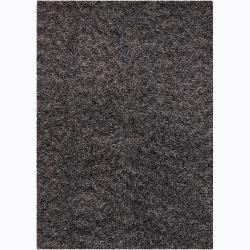 Handwoven Gray/Brown/Green Mandara Shag Rug (7'9 Round)