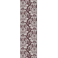Admire Home Living Brilliance Damask Area Runner Rug 2 2