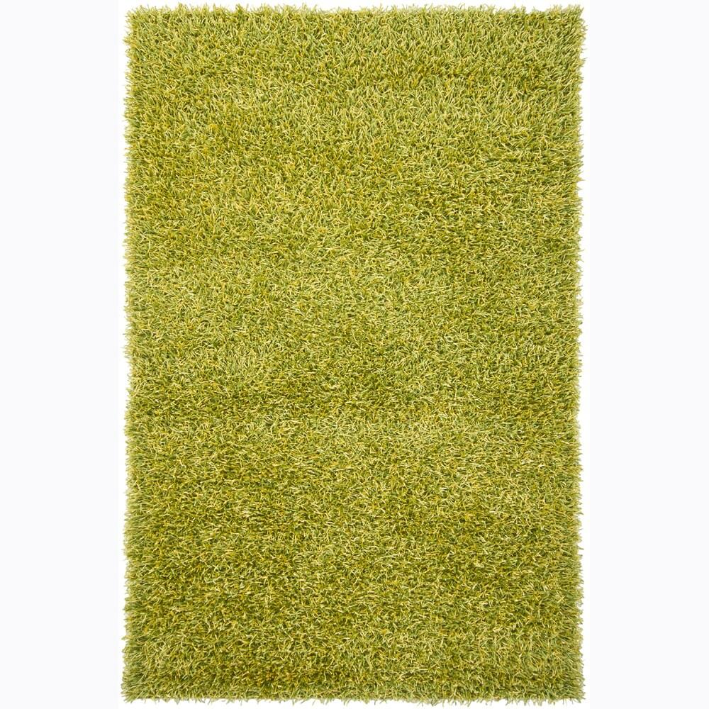 Handwoven Lime/Yellow Mandara Shag Rug (7'9 x 10'6)