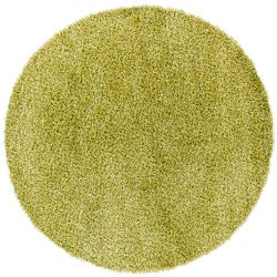Handwoven Lime-Green/Yellow Mandara Shag Rug (7'9 Round)
