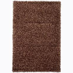 Handwoven Mixed-Brown Mandara Shag Rug (9' x 13)