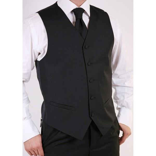 Ferrecci Men's Black 3-piece Vest Set