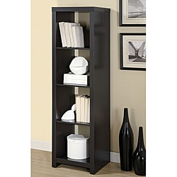 Cappuccino Wood Room Divider Bookcase