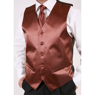 Ferrecci Men's Brown 2-piece Vest Set