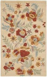 """Handmade Blossom Beige Wool Runner Rug (2'3"""" x 8')"""