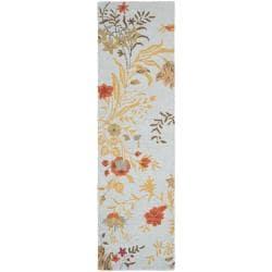 Safavieh Handmade Blossom Light Green Wool Rug (2'3 x 8')