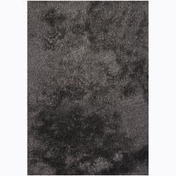 Handwoven Gray/Brown Mandara Shag Rug (7'9 x 10'6)