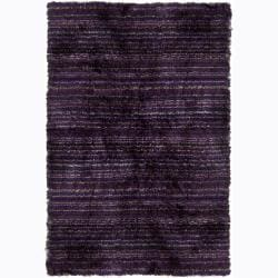 Handwoven Multicolor Striped Mandara Shag Rug (9' x 13')