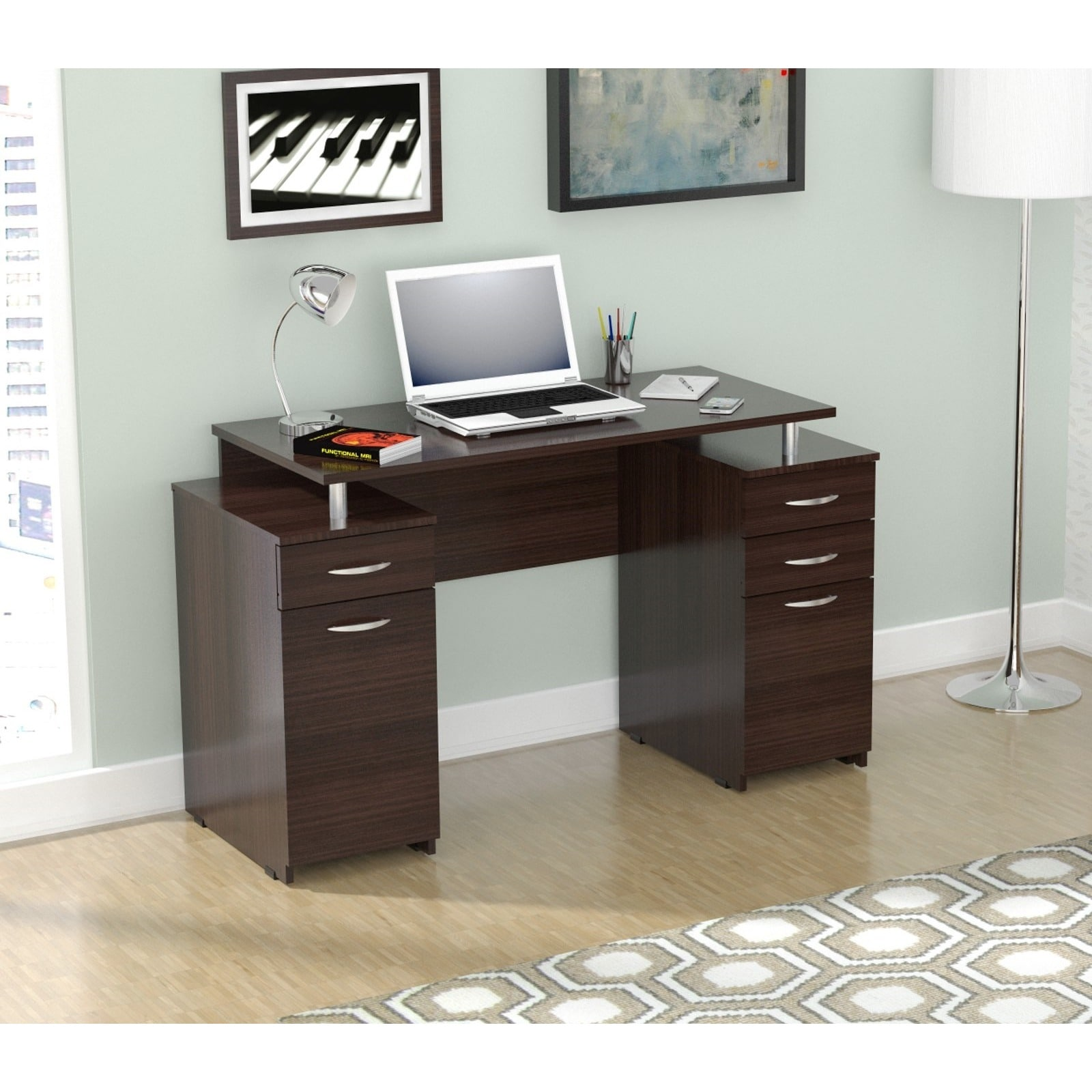 Download Executive Style Computer Desk Pdf Fixed Base