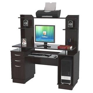 Inval Credenza/ Computer Workstation with Hutch