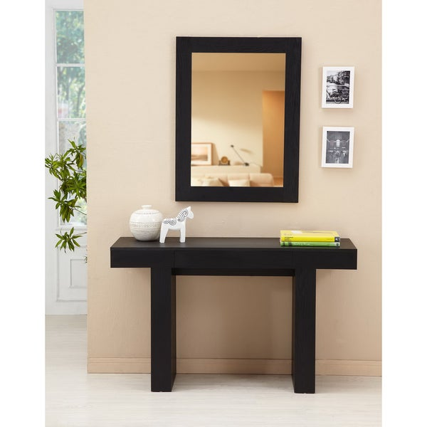 Furniture of America Perry 2-piece Sofa Table and Mirror Set