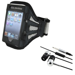 Black Armband/ INSTEN Headphones for iPod/ iPhone