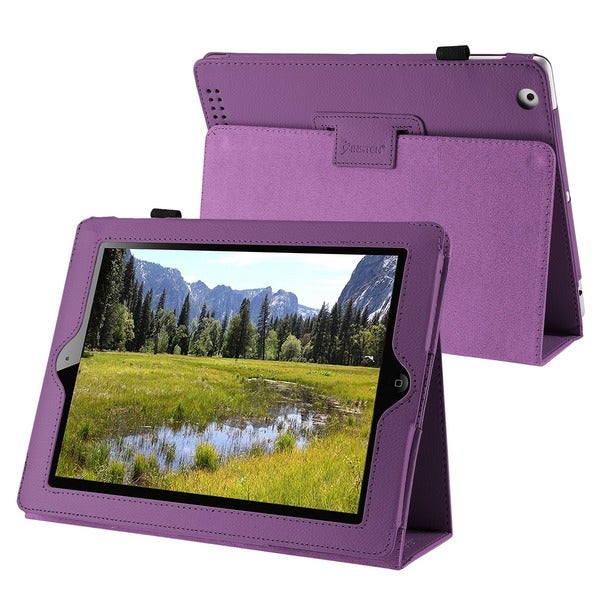 Insten Premium Folio Flip Leather Fabric Tablet Case with Stand for Apple iPad 2/ 3/ 4