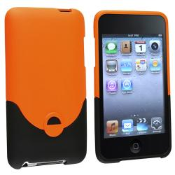 Orange/ Black Rubber Coated Case for Apple iPod touch 2nd/ 3rd Gen