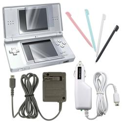 Travel and Car Charger/ Stylus/ Screen Protector for Nintendo DS LITE